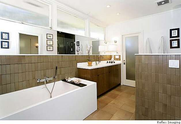 Home has 39 50s feel but modern touches sfgate for Sausalito tile