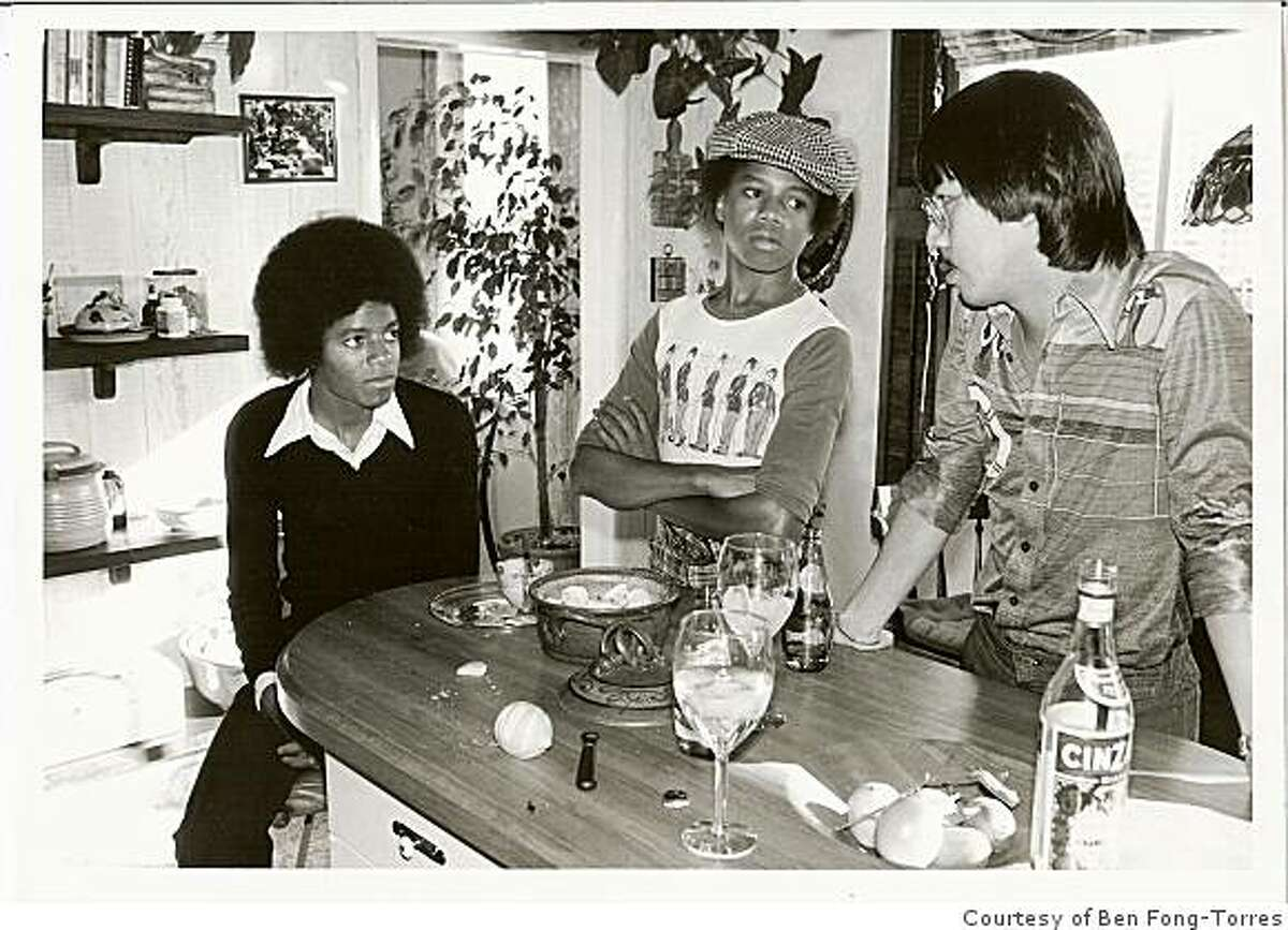 Ben Fong-Torres interviews Michael Jackson (left) and Randy Jackson at Fong-Torres' home in San Francisco, Calif., in January 1977. Fong-Torres was interviewing the brothers for a Rolling Stone story.