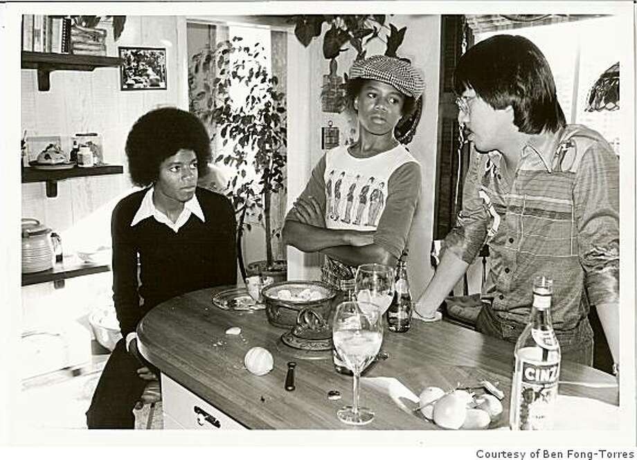 Ben Fong-Torres interviews Michael Jackson (left) and Randy Jackson  at Fong-Torres' home in San Francisco, Calif., in January 1977. Fong-Torres was interviewing the brothers for a Rolling Stone story. Photo: Courtesy Of Ben Fong-Torres