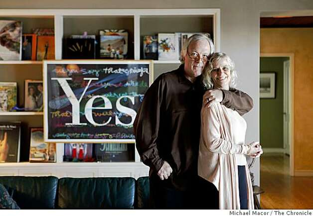 Michael Cronan with his wife Karin Hibna inside their Berkeley, Ca. home,  Thursday June 18, 2009. Photo: Michael Macor, The Chronicle