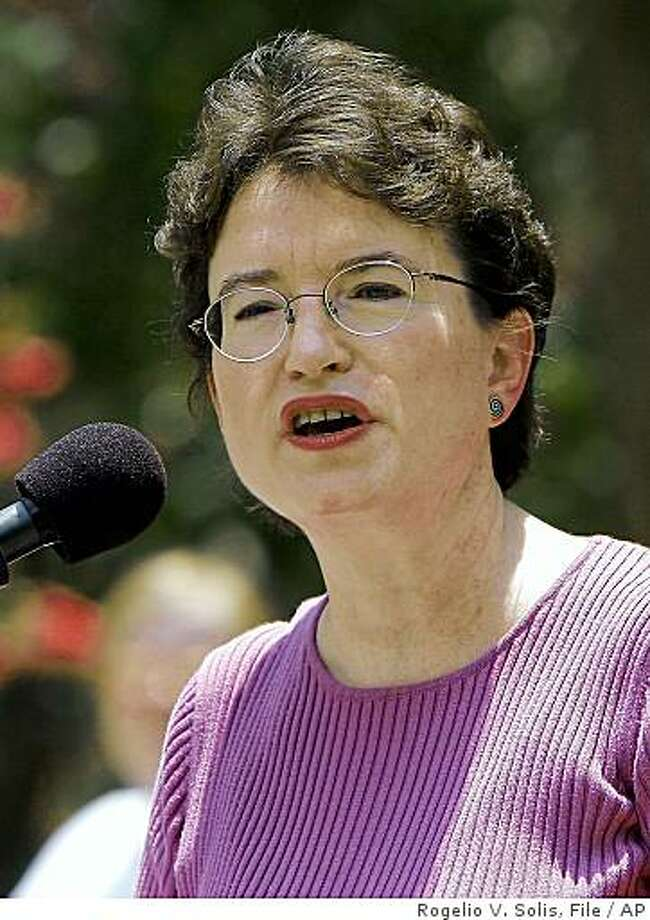 FILE - In this July 15, 2006 file photo, Kim Gandy, president of the National Organization for Women, speaks in Jackson, Miss. (AP Photo/Rogelio V. Solis, file) Photo: Rogelio V. Solis, File, AP