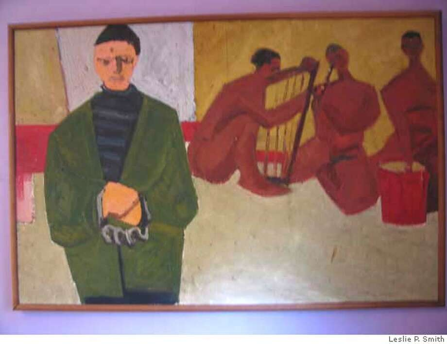 Two early figurative pieces from the  late 40's by Lee Plato Smith Photo Courtesy: Leslie P. Smith Photo: Photo Courtesy: Leslie P. Smith