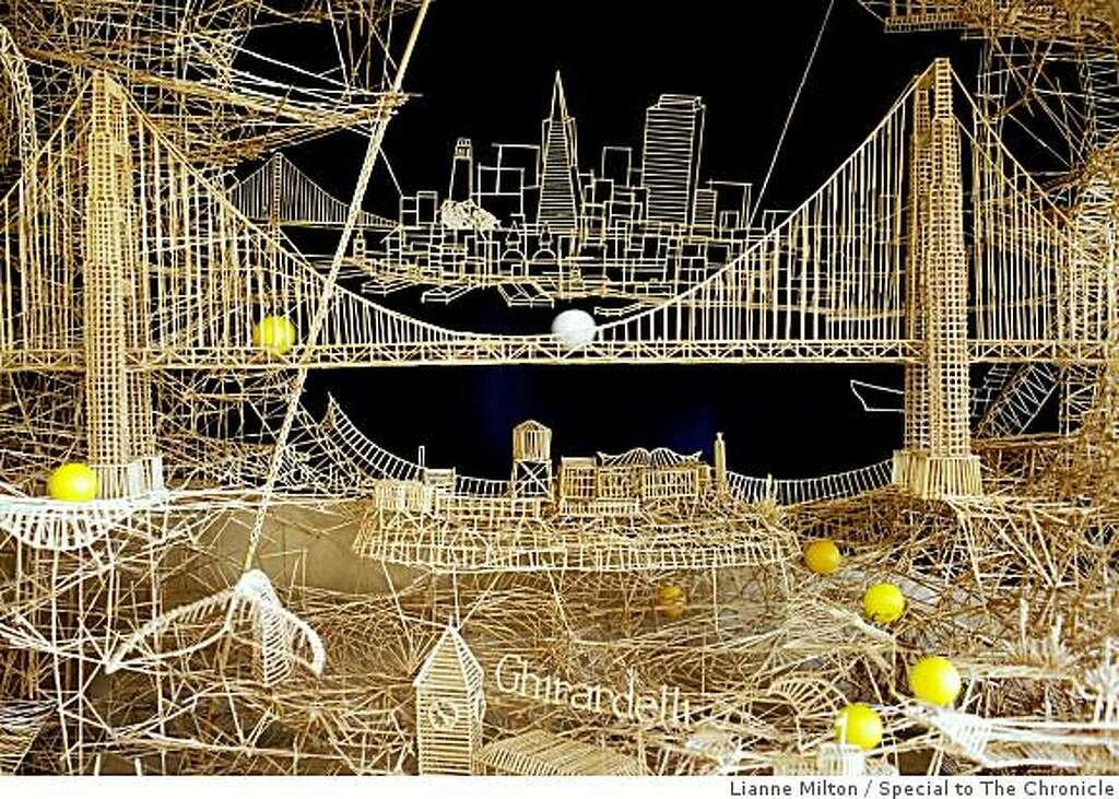 Toothpick Sculpture toothpick sculpture re-imagines s.f. - sfgate