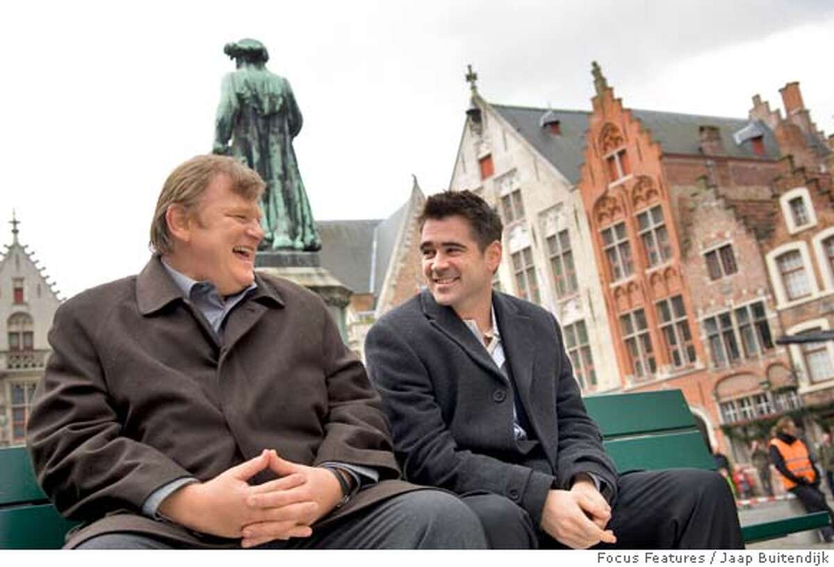 """In this image provided by Focus Features, Colin Farrell, right, and Brendan Gleeson are shown in a scene from """"In Bruges."""" (AP Photo/Focus Features, Jaap Buitendijk) ** NO SALES **"""