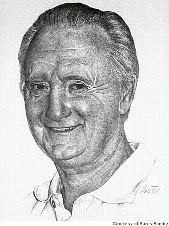Monterey Herald Cartoonist Bill Bates' self-portait. Bates, a two-time Pulitzer finalist, died in May at 79 after a year of complications from a heart attack. Photo: Courtesy Of Bates Family