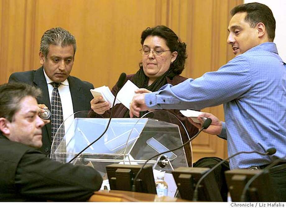 Annual drawing at City Hall that lets 200 San Francisco TIC owners convert their units into condos. Photo: Liz Hafalia