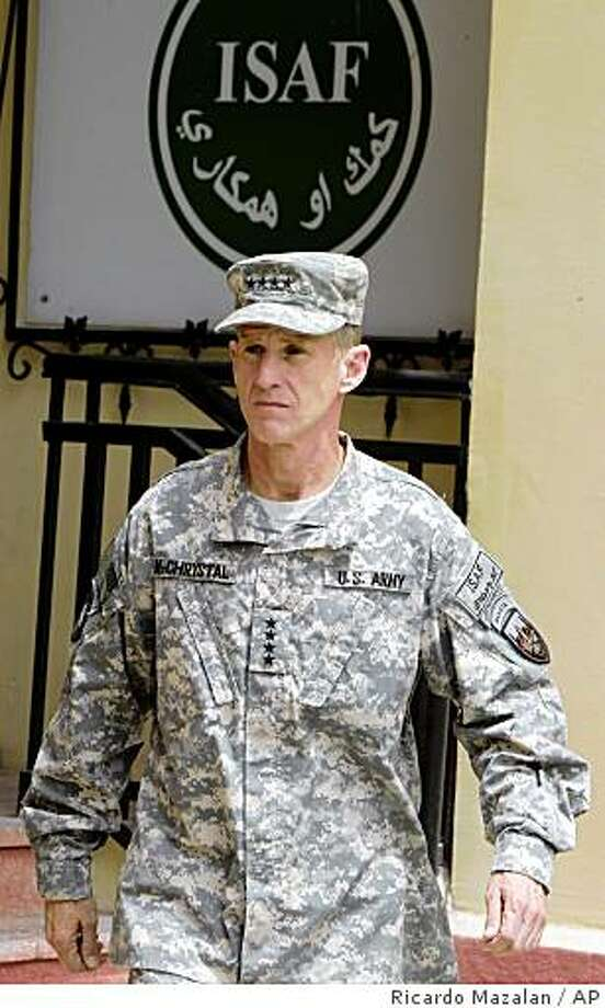 U.S. Gen. Stanley McChrystal arrives to his assumption of a command ceremony as the head of U.S. and NATO forces in Afghanistan in Kabul, Monday, June 15, 2009. Photo: Ricardo Mazalan, AP
