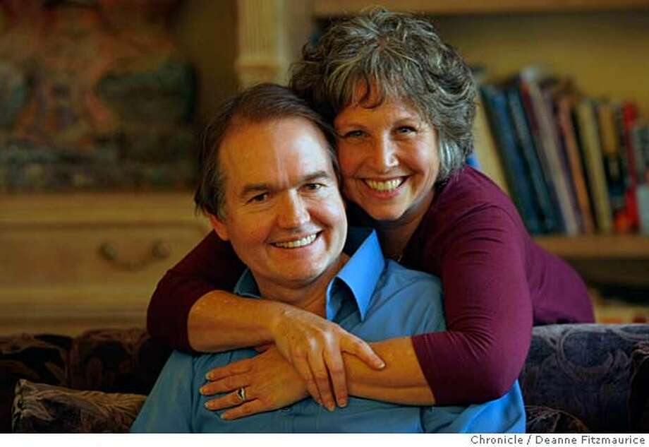 "gray_145_df.jpg  John Gray, author of the best seller ""Men are From Mars, Women are From Venus"" has a new relationship book out and is photographed here with his wife, Bonnie in their Marin home. Photographed in Berkeley on 1/15/08. Deanne Fitzmaurice / The Chronicle Mandatory credit for photographer and San Francisco Chronicle. No Sales/Magazines out. Photo: Deanne Fitzmaurice"