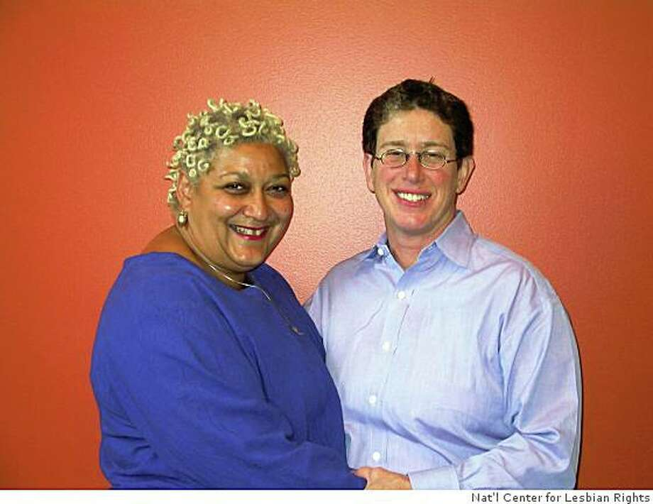 Jewelle Gomez (left) and Diane Sabin. Photo: Nat'l Center For Lesbian Rights