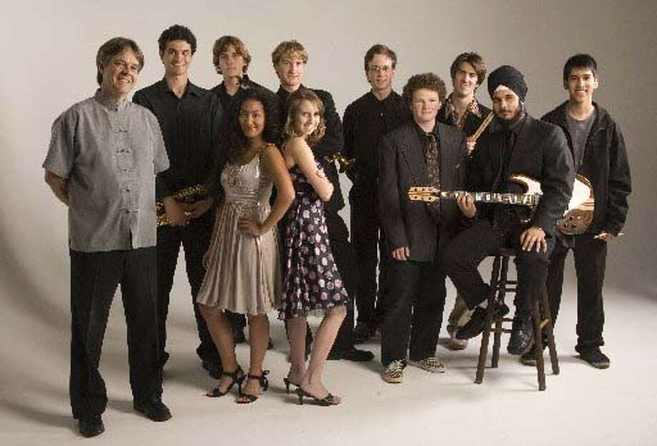 The Kuumbwa Honor Jazz Band will perform Tuesday at Shadowbrook Restaurant in Capitola. Pictured are (from left, back row) director Steve Wilson and band members Dillon Baiocchi, Ian Bowman, Nick Bianchini, Sam Whitlock, Sam Kellerman, Shamik Mascharak, (front row) Miyoko Sasaki, Jasmine Daniele, Sam Copperman and Keshav Singh.