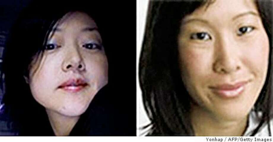 (FILES) This combo of file photos released by Yonhap news agency in Seoul on March 19, 2009 shows US journalists Euna Lee (L) and Laura Ling (R).  A North Korean court on June 8, 2009 sentenced the two US journalists to 12 years in a labour camp, state media said.    REPUBLIC OF KOREA OUT  NO INTERNET  NO SALES  NO ARCHIVES       AFP PHOTO / YONHAP / FILES (Photo credit should read YONHAP/AFP/Getty Images) Photo: Yonhap, AFP/Getty Images