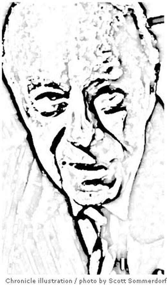 George P. Schultz. Chronicle photo illustration