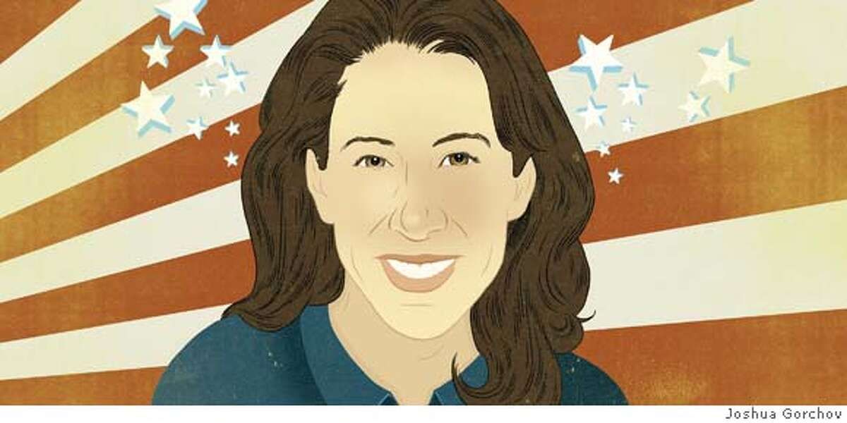Illustrated portrait of Christine Pelosi for 2/3/08 issue of Sunday magazine; FIRST REPRO RIGHTS ONLY; ok to tease and post with article on sfagte Ran on: 02-03-2008