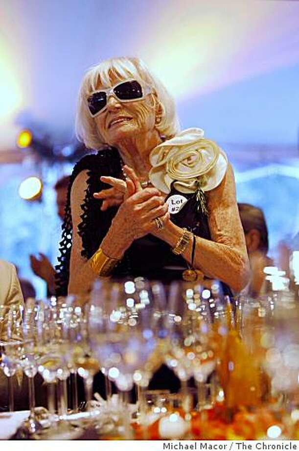 Margrit Mondavi, widow of Robert Mondavi, on hand during the Auction Napa Valley at the Meadowwood Resort in St. Helena, Napa Valley, Calif. on  Saturday June 6, 2009 Photo: Michael Macor, The Chronicle