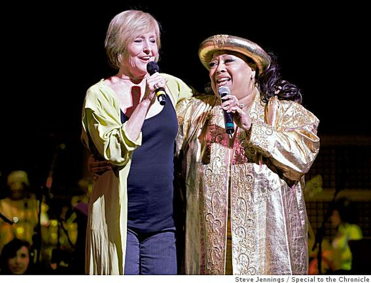 """Frederica von Stade, Jeannie Tracy Sting made a rare San Francisco appearance at """"Let the Sunshine In,"""" a star studded event at Davies symphony hall benefiting Oakland shooting victim Christopher Rodriguez, the San Francisco Conservatory of Music and the Narada Michael Walden Foundation."""