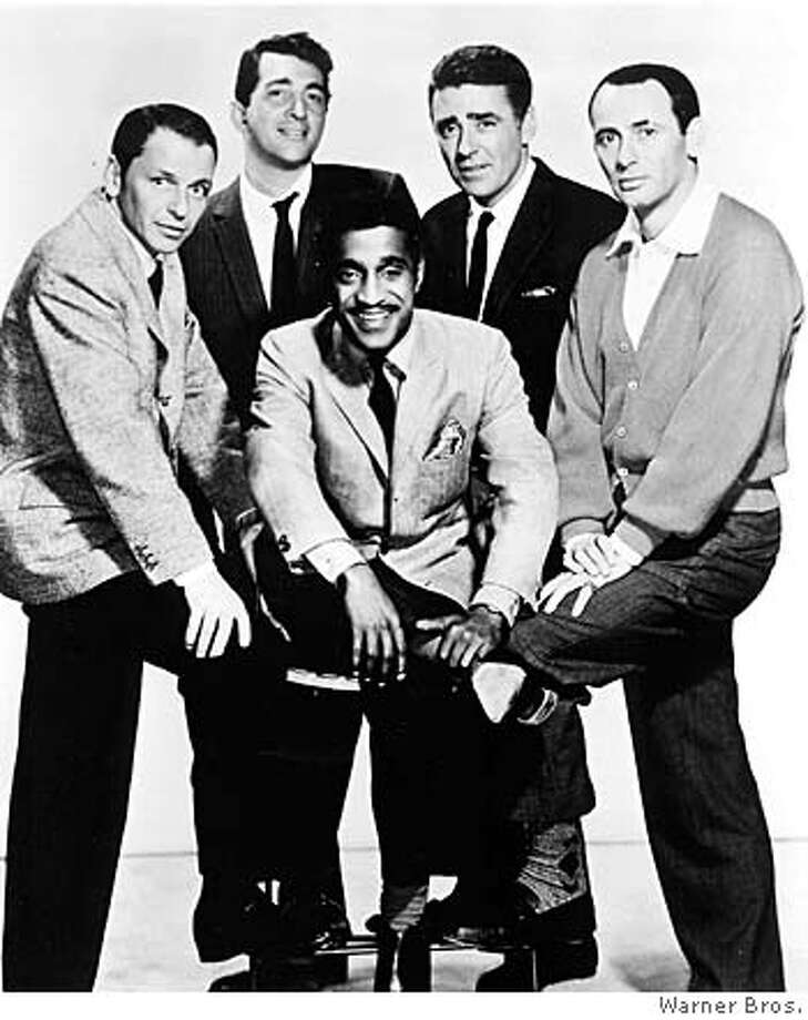"""Members of the famed """"Rat Pack"""" and cast members of the 1959 film """"Ocean's Eleven"""" pose in this undated publicity photograph. (From L to R) The members are Frank Sinatra, Dean Martin, Sammy Davis Jr., Peter Lawford and Joey Bishop. Bishop died at age 89 at his home in Newport Beach, California on October 17, 2007 according to his longtime friend and publicist Warren Cowan. REUTERS/Warner Bros./Handout/Files (UNITED STATES). EDITORIAL USE ONLY. NOT FOR SALE FOR MARKETING OR ADVERTISING CAMPAIGNS. NO ARCHIVES. NO SALES.  Ran on: 10-19-2007  Joey Bishop had his own show and often substituted for Jack Paar and Johnny Carson.  Ran on: 02-03-2008  The Rat Pack (from left): Frank Sinatra, Dean Martin, Sammy Davis Jr., Peter Lawford and Joey Bishop. Photo: HO"""
