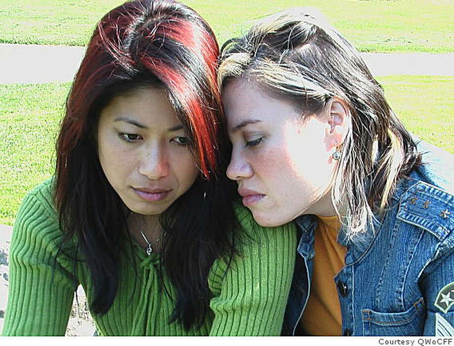 "A lesbian couple tries to stay together while being chased by immigration agents in ""Look Again,"" directed by Jennifer Lin. The film plays during the Queer Women of Color Film Festival Sat. June 13. Photo: Courtesy QWoCFF"