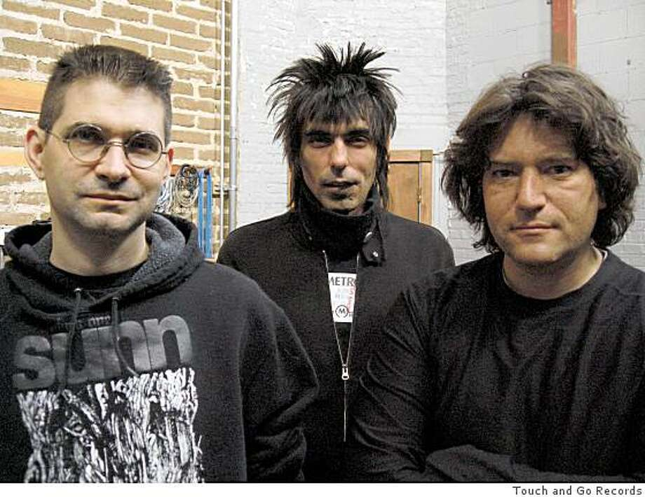 Chicago post-punk group Shellac, featuring Steve Albini (left) will perform on Wednesday June 17 and Thursday June 18 at Great American Music Hall. Photo: Touch And Go Records