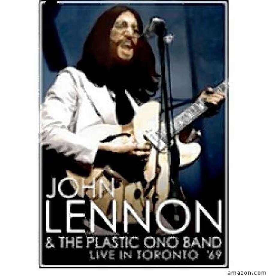 dvd cover: JOHN LENNON; LIVE IN TORONTO '69 Photo: Amazon.com