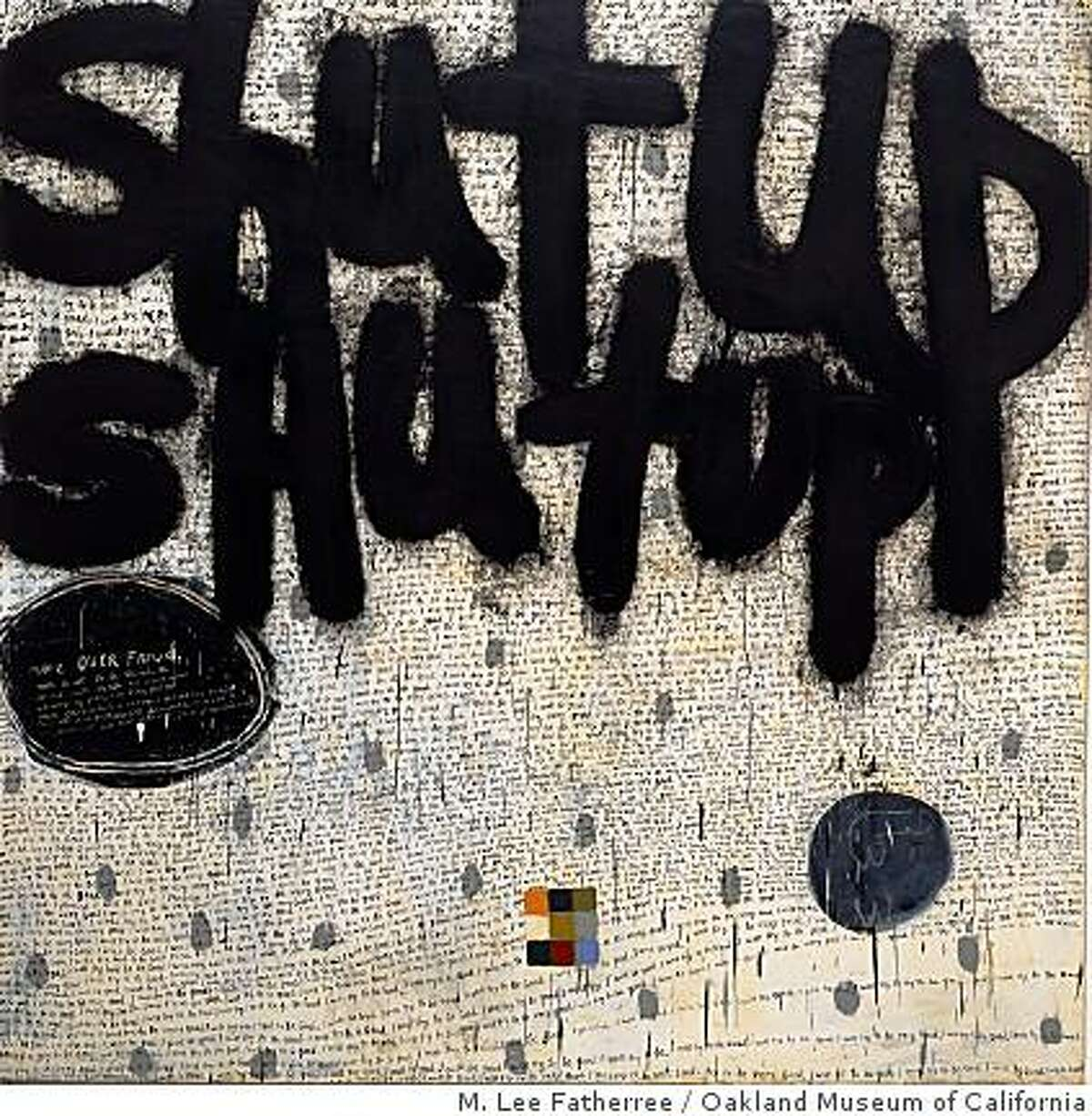 """""""Promise"""" (1999) oil and alkyd on canvas by Squeak Carnwath"""