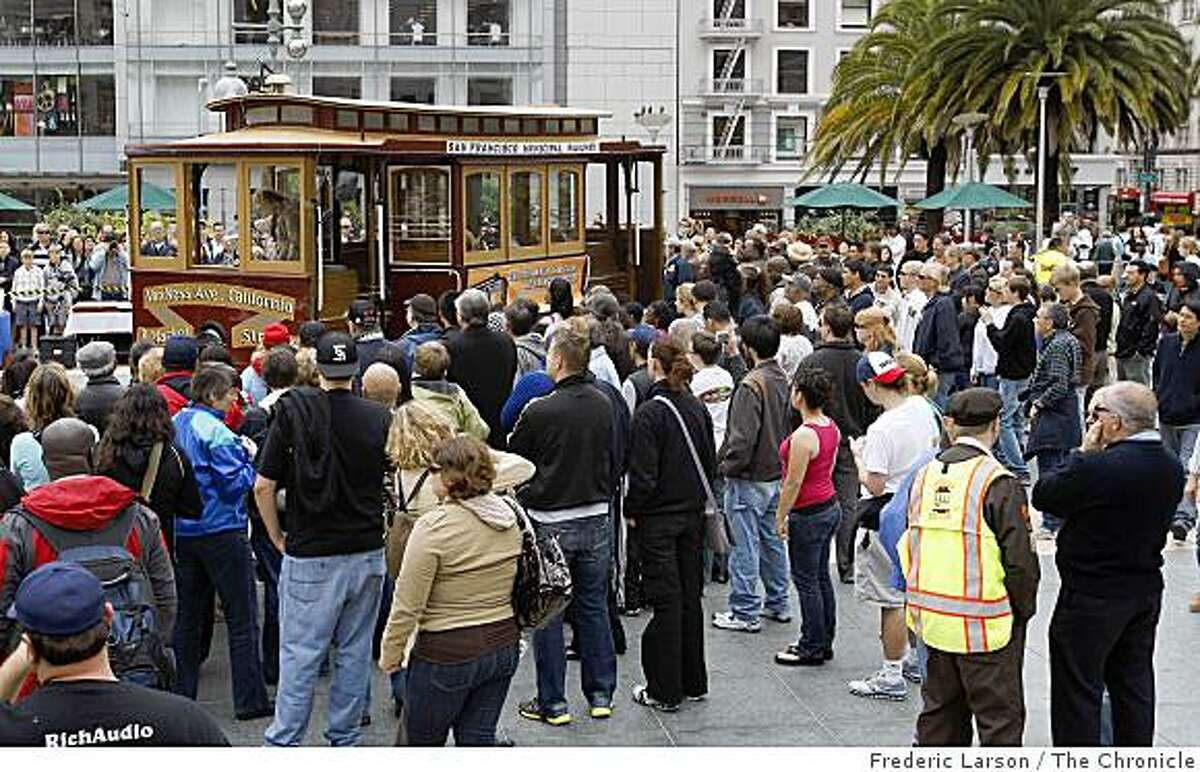 Once again Leonard Oats wins the San Francisco's 47th annual cable car bell-ringing contest held at Union Square in San Francisco on June 9, 2009.