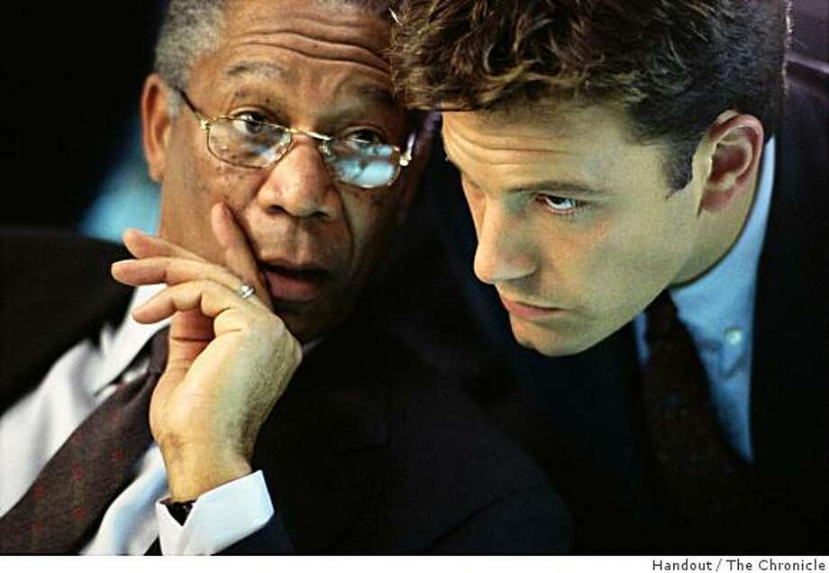 "Left to right) Morgan Freeman as DCI William Cabot and Ben Affleck as Jack Ryan in ""The Sum of All Fears."" Paramount Pictures presents a Mace Neufeld Production, ""The Sum of All Fears,"" directed by Phil Alden Robinson and produced by Mace Neufeld. Photo: Handout, The Chronicle"