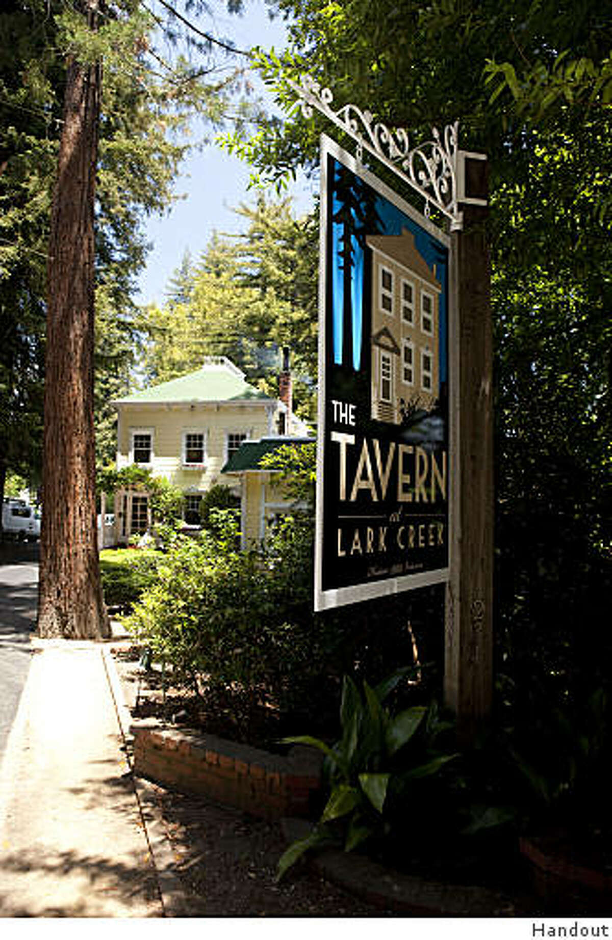 Sign at new Tavern at Lark Creek (formerly Lark Creek Inn) in Larkspur
