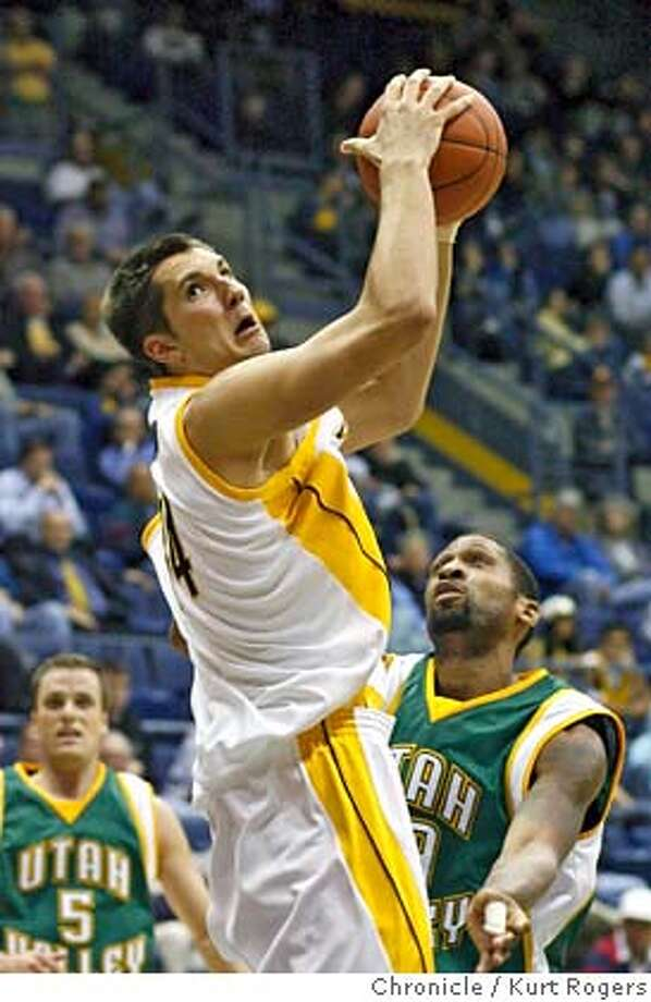 Ryan Anderson with the rebound in the fiirst period of play .  The California Golden Bears vs Utah Valley State Wolverines At Haas Pavilion . Wednesday, November 15, 2006.  KURT ROGERS/THE CHRONICLE BERKELEY THE CHRONICLE  SFC CAL_0193_kr.jpg MANDATORY CREDIT FOR PHOTOG AND SF CHRONICLE / NO SALES-MAGS OUT Photo: KURT ROGERS/THE CHRONICLE