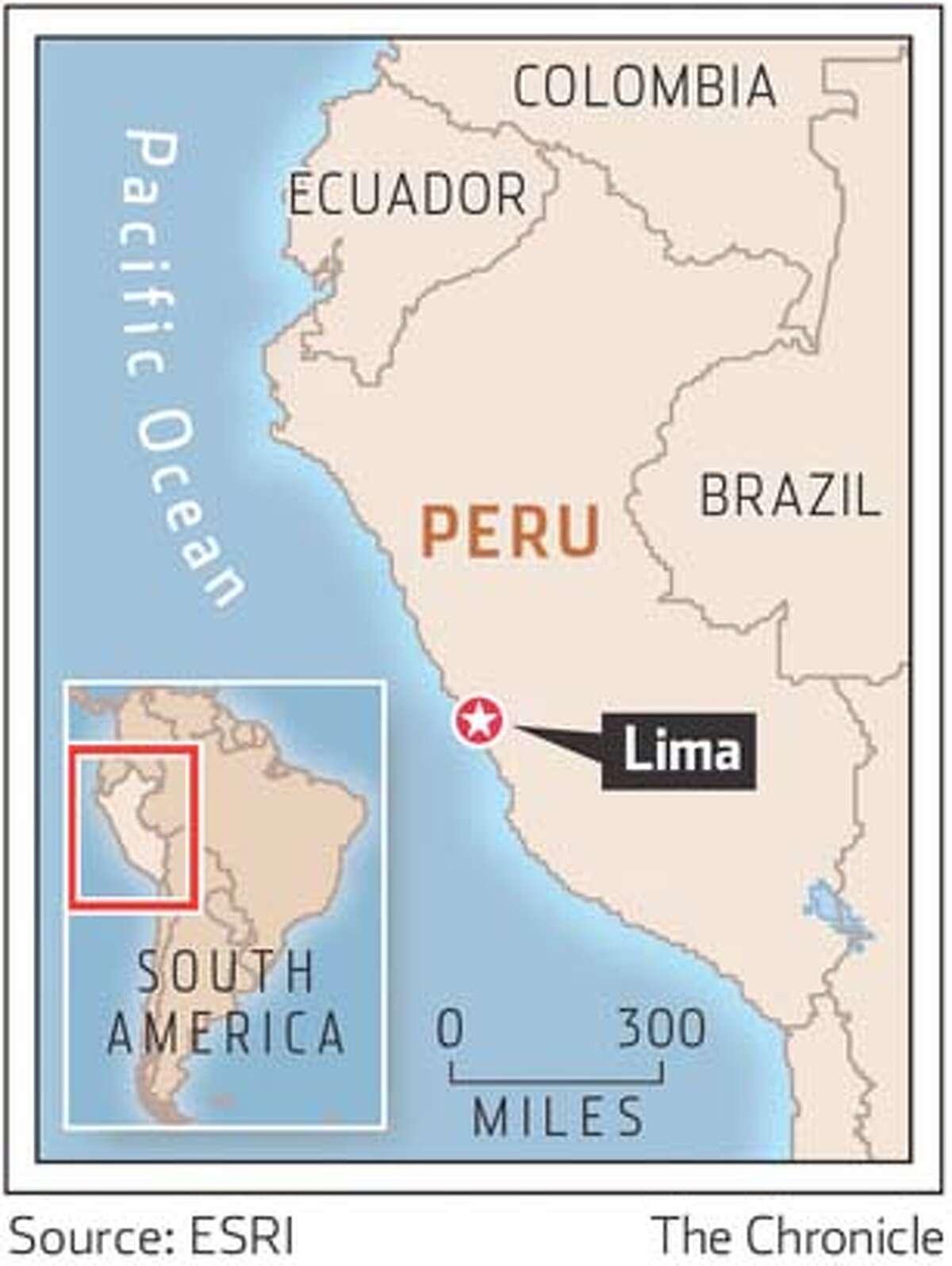 Lima, Peru. Chronicle Graphic