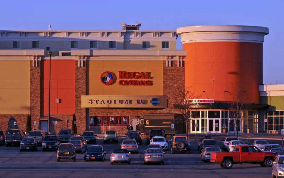 View of the Regal Cinemas at the newly renovated Clifton Park Center on Thursday Feb. 9, 2012 in Clifton Park, NY.  The mall has remade itself with restaurants, a hotel and theaters. (Philip Kamrass / Times Union ) Photo: Philip Kamrass / 00016377A
