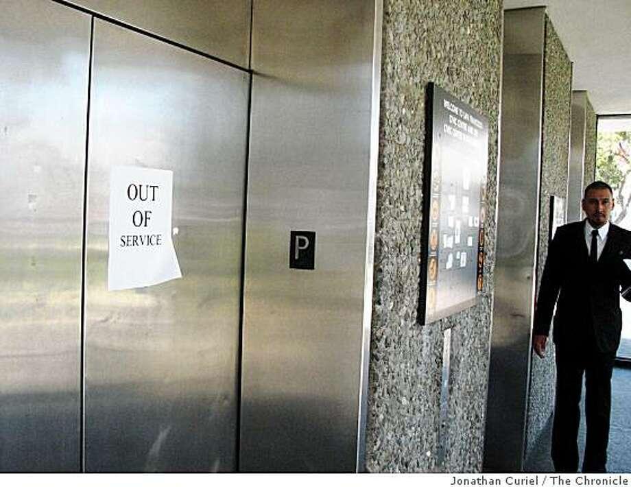 civic center garage elevators Photo: Jonathan Curiel, The Chronicle
