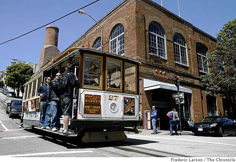 The Cable Car Museum located at Mason and Washington Street in San Francisco and the San Francisco Municipal Transportation Agency is sparring with the nonprofit cable car museum over who should have control over the city's cable car artifacts on April 24, 2009. Photo: Frederic Larson, The Chronicle
