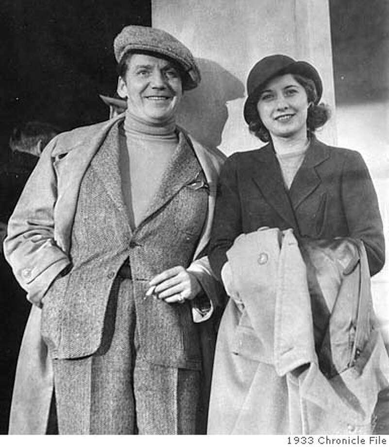 Actress Barbara Stanwyck and her husband, Frank Fay, visited San Francisco in 1933. Photo: Xx