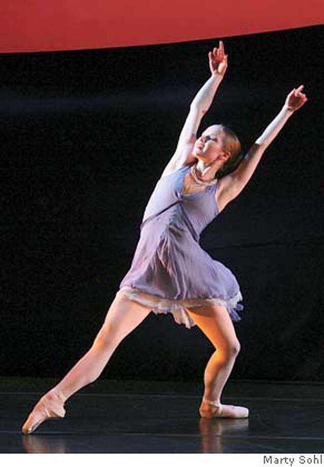 Jenna Maule, of Company C Contemporary Ballet, in Alexandre Proia's Rhapsody in Blue. Commissioned by the 2007 Mendocino Music Festival Photo: Marty Sohl