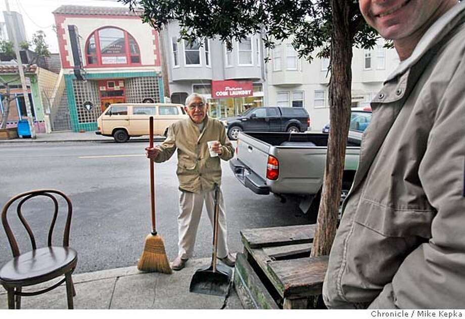 thetheCity Exposed theCity Exposed The Potrero Sweeper A recent Wednesday 9:18 a.m.: Joe Trujillo says he takes offence when people assume he�s looking for a handout because he likes to take care of the neighborhood he�s lives in. Almost every morning you�ll find the 84-year-old sweeping the sidewalks or dusting the windows in front of the New Potrero Market or Farley�s coffee shop on 18th street. He used to hang out there with a group of guys from the neighborhood but now they�re all gone and the only thing he has left are the people in the shops who say �Hi� and wave as he slugs mouthfuls of hot chocolate between broom pushes. He calls them his family. To hear audio and see more photos, go to sfgate.com/cityexposed. E-mail Mike Kepka at mkepka@sfchronicle.com Mike Kepka / The Chronicle MANDATORY CREDIT FOR PHOTOG AND SAN FRANCISCO CHRONICLE/NO SALES-MAGS OUT Photo: Mike Kepka