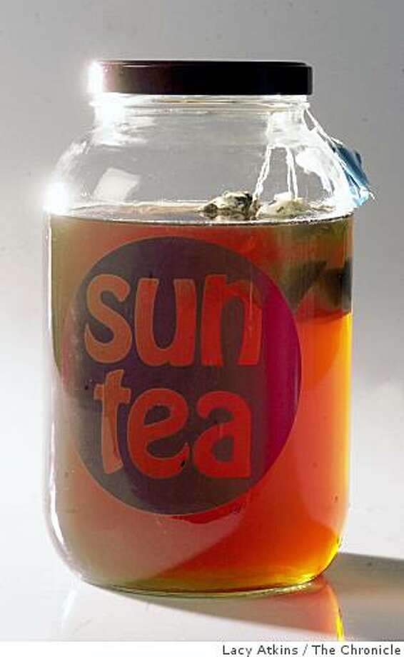 Sun Tea made by placing tea bags in a jar and setting it out in the sun. Photo: Lacy Atkins, The Chronicle