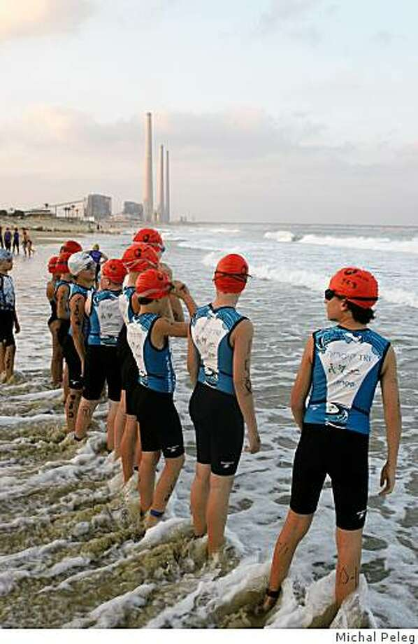 """A photo from the exhibition """"Sea of Triathlon"""" by Israeli photographer Michal Peleg, June 1-Aug. 30, 2009, at the Katz Snyder Gallery, Jewish Community Center of San Francisco. Photo: Michal Peleg"""