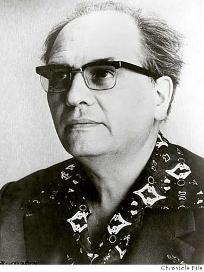 THIS IS A HANDOUT IMAGE. PLEASE VERIFY RIGHTS. MESSIAEN-C-11APR02-PK-HO Olivier Messiaen, 1984  ALSO RAN 9/18/02 Photo: HANDOUT