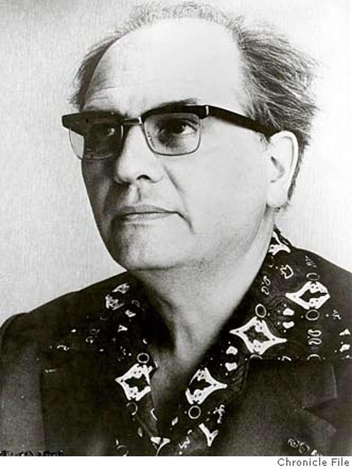 THIS IS A HANDOUT IMAGE. PLEASE VERIFY RIGHTS. MESSIAEN-C-11APR02-PK-HO Olivier Messiaen, 1984  ALSO RAN 9/18/02 Photo: HANDOUT