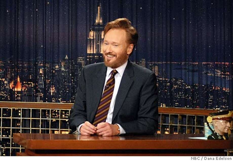 "In this photo provided by ""Late Night with Conan O'Brien"", a bearded Conan O'Brien returns to the late night show on Wednesday Jan. 2, 2008, after a two month hiatus due to the Writers Guild strike. (AP Photo/ Dana Edelson/NBC) NO ARCHIVE NO SALES AP PROVIDES ACCESS TO THIS PUBLICLY DISTRIBUTED HANDOUT PHOTO. THE COPYRIGHT IS OWNED BY A THIRD PARTY. Photo: Dan Edelson"