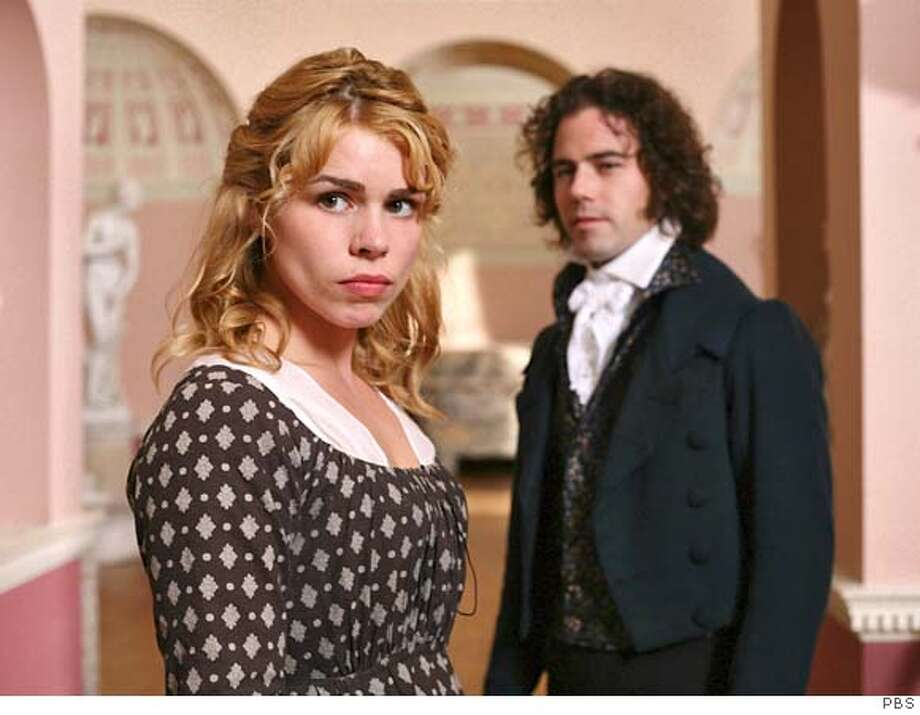 "THE COMPLETE JANE AUSTEN: ""Mansfield Park""  Premieres Sunday, January 27, 2008 at 9pm on PBS  Austen's most complex plot stars Billie Piper (Doctor Who, The Ruby in the Smoke) as Fanny Price, who goes to live with prosperous relatives at Mansfield Park. Fanny navigates a labyrinth of intrigues and affairs among the occupants of the house, while her cousin Edmund Bertram (Blake Ritson, Inspector Lynley Mysteries) remains her stalwart confidant. Shown: Billie Piper as Fanny Price (left) and Joseph Beattie as Henry Crawford  Ran on: 01-26-2008  Billie Piper and Joseph Beattie as Fanny Price and Henry Crawford. Photo: Ho"
