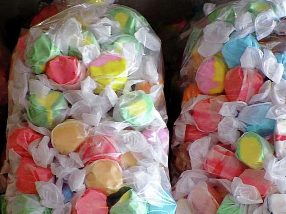 You'll find a variety of tasty salt water taffy at Tidepool Gifts in Bodega Bay. Photo: Stephanie Wright Hession