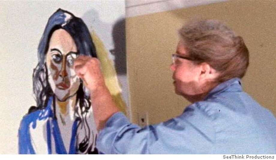 """Alice Neel,"" a documentary by Andrew Neel about his grandmother, the Bohemian portrait painter, opens Friday. Alice Neel painting Ginny Neel, 1969  Film Still from ""Alice Neel"", courtesy SeeThink Productions Photo: SEE THINK PRODUCTIONS"