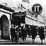 It's-It sign at pie shop at Playland-At-The-Beach, where the original ice cream sandwich of the company was sold. PHOTO COURTESY OF IT'S-IT ICE CREAM CO.