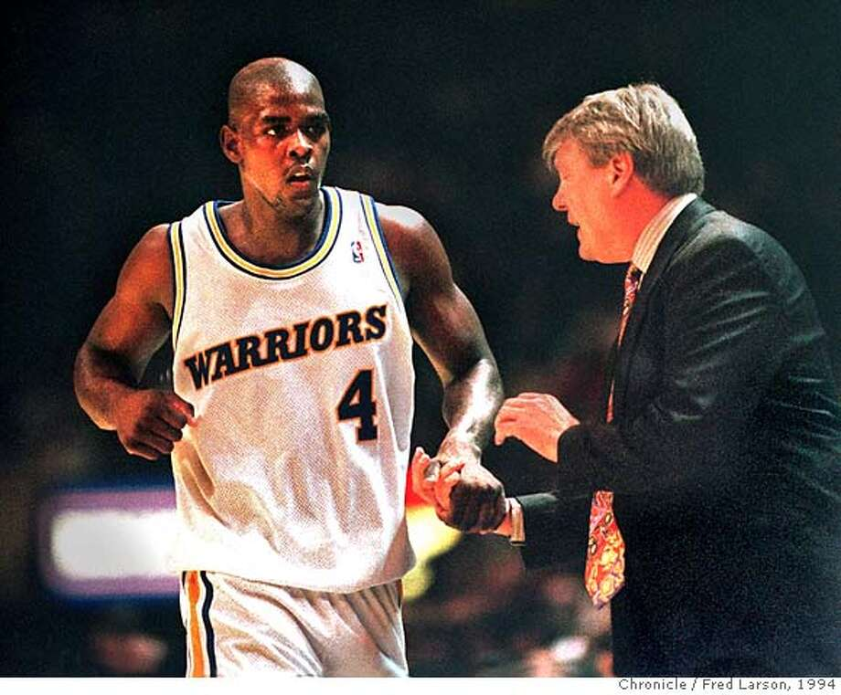 CHRONICLE 01/28/94 // CHRIS WEBBER AND DON NELSON  Ran on: 08-30-2006  Chris Webber, Nelson and the Warriors made the '94 playoffs.  Ran on: 08-30-2006 Ran on: 08-30-2006 Ran on: 08-30-2006 Ran on: 04-21-2007  Chris Webber (4), a rookie, along with Latrell Sprewell and Chris Mullin, embodied the Warrior's first-class talent 13 years ago.  ALSO Ran on: 04-21-2007  Chris Webber (4), a rookie, along with Latrell Sprewell and Chris Mullin, embodied the Warriors' first-class talent 13 years ago. CAT Photo: FRED LARSON