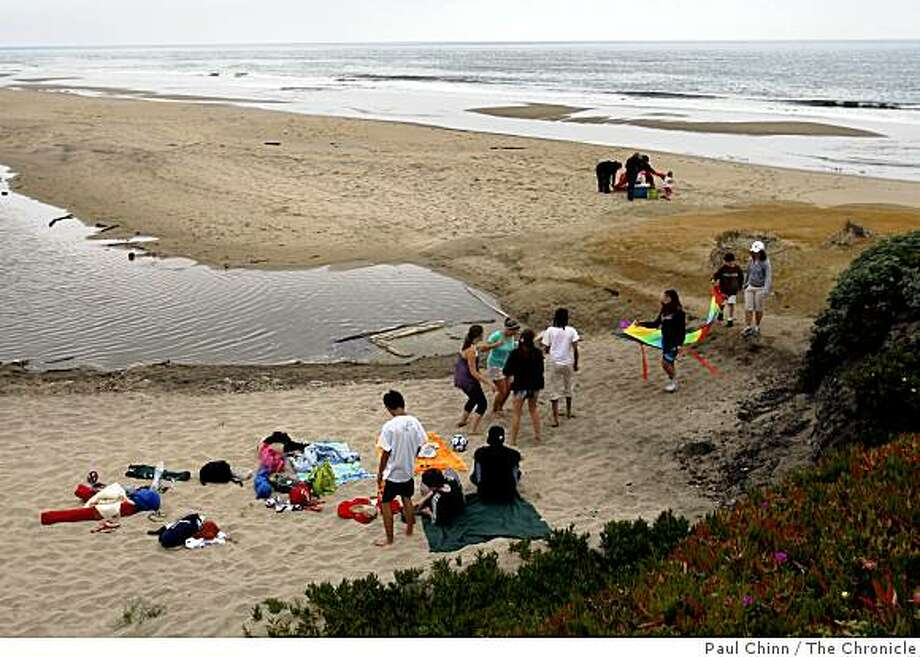 Students from Burlingame High School celebrate the end of the school year with a party at Pomponio State Beach in San Mateo County on Saturday, May 30, 2009. Pomponio is on the list of parks scheduled to be closed because of the state's budget crisis. Photo: Paul Chinn, The Chronicle