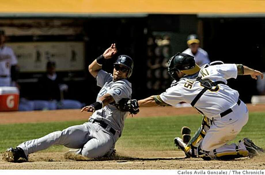 The Oakland Athletics played the Seattle Mariners at the Oakland-Alameda County Coliseum on Wednesday, May 27, 2009. The Mariners won the game 6-1. Photo: Carlos Avila Gonzalez, The Chronicle