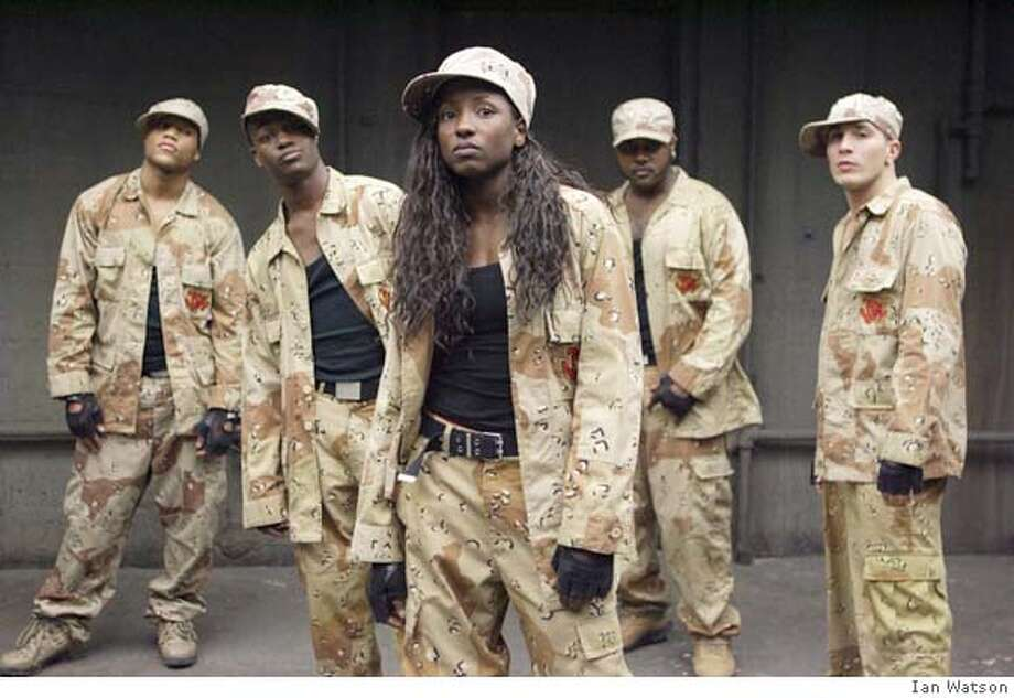 (l-r) Dwain Murphy, Daniel Morrison, Rutina Wesley, Tristan D. Lalla and Shawn Desman as star in the coming-of-age dance movie, How She Move, opening Friday. Ran on: 01-20-2008  Carmen Electra (left), Sean Maguire (center) and Kevin Sorbo in Jason Friedberg and Aaron Seltzer's parody film, &quo;Meet the Spartans,&quo; opening Friday at Bay Area theaters. Photo: Ian Watson