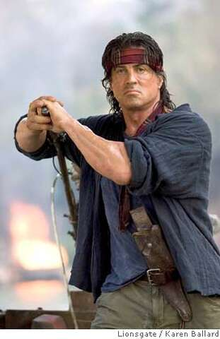 Rambo' - There will be blood  And rippled muscle  - SFGate
