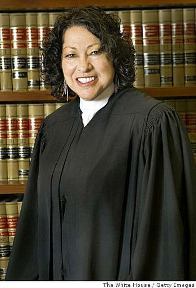 UNSPECIFIED - 2009:   In this handout image provided by The White House on May 26, 2009, Judge Sonia Sotomayor poses for a photograph in 2009. If approved by the U.S. Senate, Sotomayor will be the first Hispanic and the third woman ever to serve on the Supreme Court. Sotomayor currently sits on the United States Court of Appeals for the Second Circuit, based in New York.  (Photo by Stacey Ilyse Photography/The White House via Getty Images) Photo: The White House, Getty Images